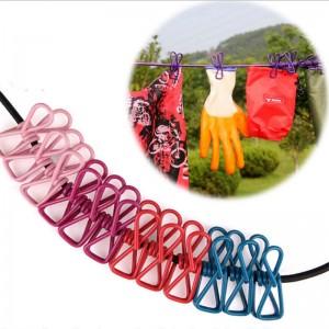 【租用】彩色防風防滑曬晾繩夾
