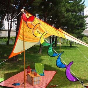 【購買】七彩風條彩色風車裝飾
