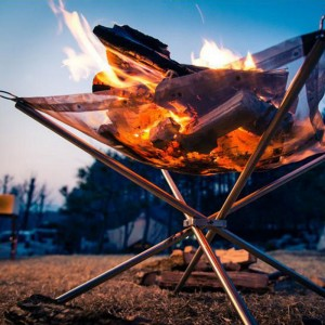 【購買】不銹鋼營火會爐 可摺式燒烤爐